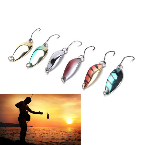 5pcs//lot 3g 58mm Spinner Spoon Fishing Lure Metal Lures Colorful Hard Baits Pop.