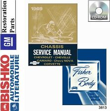 1969 Camaro Chevelle Corvette Nova Malibu Shop Service Repair Manual CD