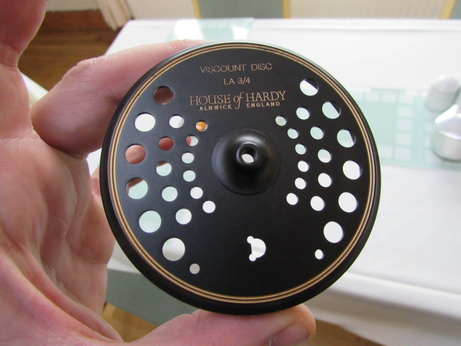 Unused hardy viscount disc LA 3 4 trout fly fishing reel frame only