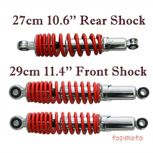 For Taotao Bull Quad 2* 290mm Front Shock 1* 270mm Rear Shock Quad Scooter ATV