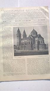 Utile 1905 Sdt. Bauzeitung 14 Munich Benno église-afficher Le Titre D'origine