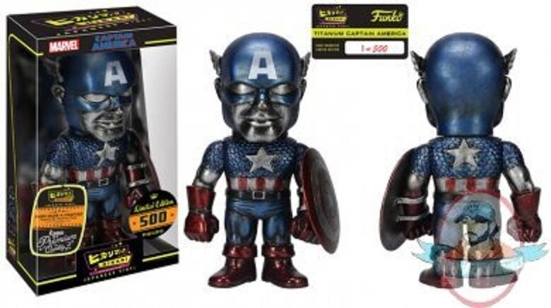 Marvel Titanium Captain America Premium Hikari Sofubi Figure Funko