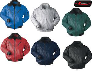 NORWAY Pilotjacken Arbeitsjacke Arbeitsbekleidung 4in1 Funktion, S-4XL, 6 Farben