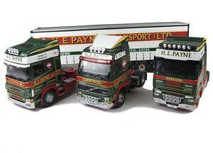 Corgi-moderno-CC99147-1-50-h-E-Payne-transporte-Ltd-4-piezas-conjunto-Scania-Volvo-DAF