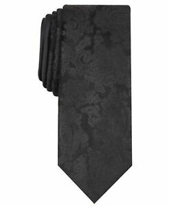 New-Tallia-Orange-Men-039-s-Classic-Alcott-Paisley-Black-Neck-Tie-NWT-MSRP-55-A2518