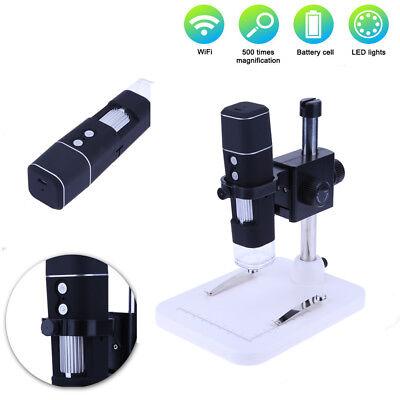 10X 500X Handheld WiFi Electron Digital Microscope Repairing Medical Magnifier