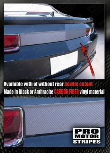 Chevrolet Camaro Carbon Fiber Rear Deck Blackout Decal 2010 2011 2012 2013