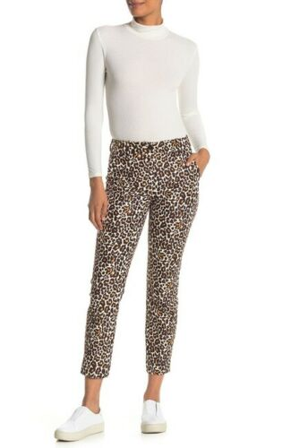 Details about  /NEW J CREW Womens Snow Leopard Slim Pants Smooth Stretch Ankle 2 4 10 12 $98 NWT