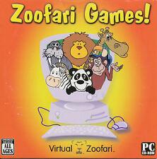 ZOOFARI GAMES Virtual Animal Educational Kids Game for Windows PC Game NEW