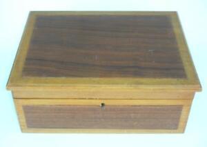 Antique Furniture Vintage Long Pine Box 20th Century