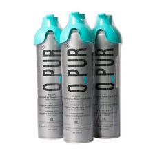 3x O PUR Sauerstoff Dose 8 L + Sauerstoffmaske SET Inhalation Sauerstoffflasche