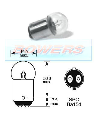 LUCAS LLB875 28V VOLT 7W SBC BA15D DOUBLE CONTACT LIGHT BULB BAYONET FITTING