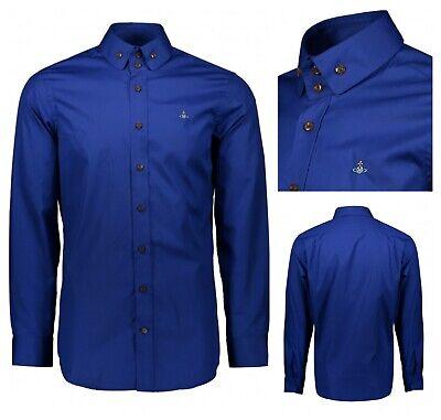 Nuovo Con Etichette Autentico Vivienne Westwood Royal Blue Krall Orb Logo Maglietta. It 48-medium-mostra Il Titolo Originale