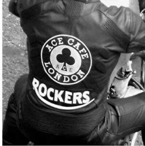 Ace Cafe Leather Rockers Back Patch, Biker Piston Broke, Ton Up, TT, Ogri, 59MC.