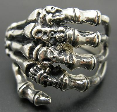 925 Silber Ring Hand Totenkopf Biker R001024 Empress