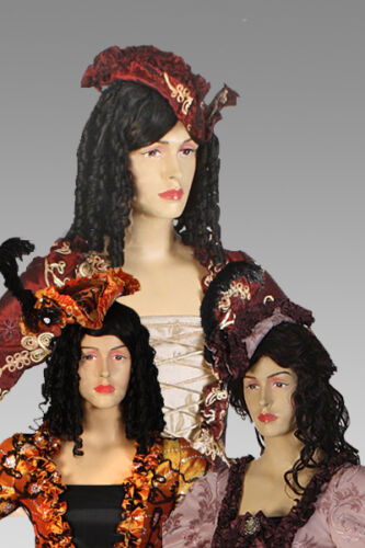 Renaissance Medieval Hat Antoinette Style Embroidered Taffeta Match Your Dress!