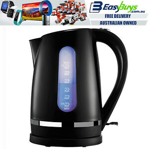 Electric-Kettle-Black-and-Silver-Cordless-1-7L-Fast-Boil-Jug-with-LED-Light