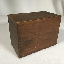 "Vintage Dovetailed Recipe Card Box Handmade Shabby Chic 5.75"" x 4.25"""