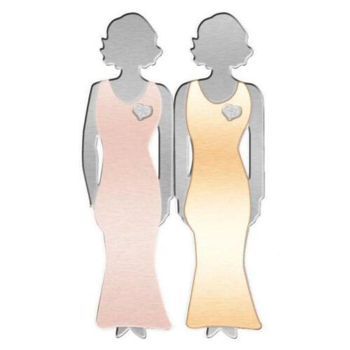 Fashion Jewelry Pink Enamel Pin Metal Heart Bond Between  Sisters Designer Brooc