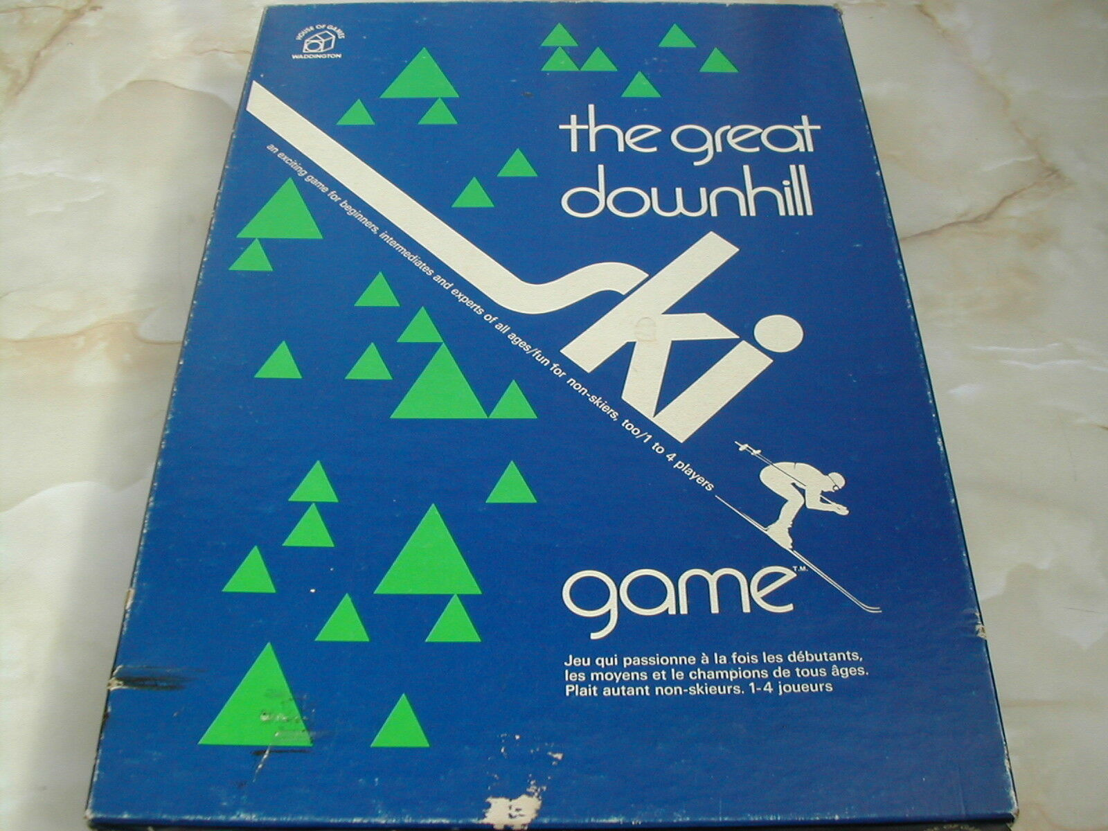 THE GREAT DOWNHILL SKI GAME - 1970'S - SKIING GAME - SKI GAME - VINTAGE GAME