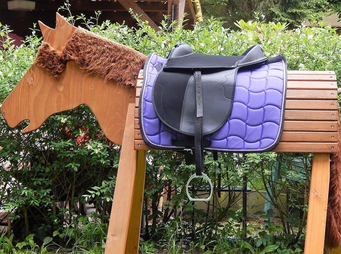 Sattelset sillín set a. madera caballo caballo de juego brillo pistolera accesorios caballo de madera
