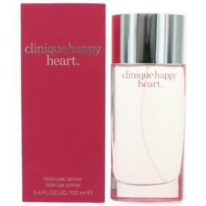 HAPPY HEART Clinique women 3.4 oz 3.3 edp Perfume spray NEW IN BOX