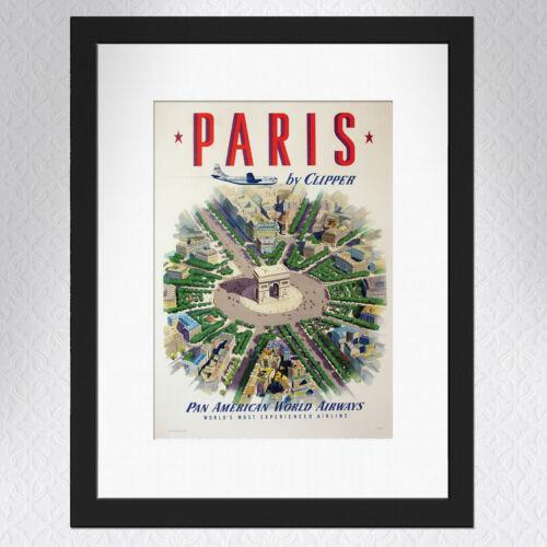 Paris Travel Poster A4 Great Quality Vintage Arc De Triomphe Kunstplakate Mobil Honda Antiquitaten Kunst