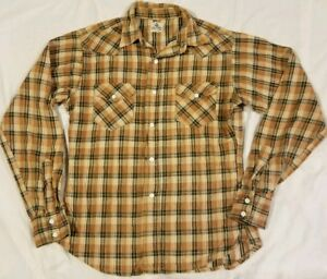 Rare-Vintage-1950s-Wrangler-Blue-Bell-Snap-Up-Long-Sleeve-Shirt-Estimated-Small