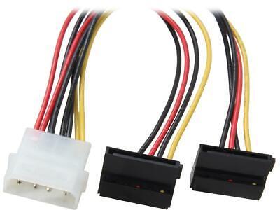 "Coboc Model SC-PWC-MOL-24-SATA-M-F 24/"" Molex 4-pin LP4 Male to 4 x SATA Power 15"