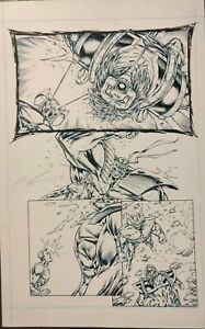 Signed Original Rob Liefeld  Artwork Youngblood Hardcover Page # 119