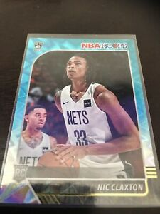 Panini-NBA-Hoops-Teal-Explosion-Nic-Claxton-Base-RC-Nets-2020