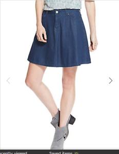 ab4410d4f BNWT M&S Indigo Collection Dark Blue Lightweight Denim Skater Skirt ...