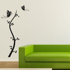 Wandtattoo-Blumen-Ranke-Herz-Schmetterling-Aufkleber-Wall-Art-Wand-Tattoo-2096
