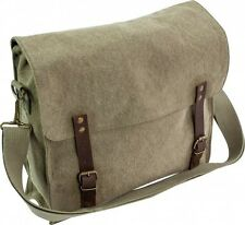 3500a996be86 HEAVY DUTY CANVAS SATCHEL HAVERSACK for messenger bag army cotton FINTRY