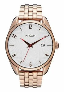NWOT-Nixon-The-Bullet-Watch-All-Rose-Gold-Silver-Mens-Womens-aa275