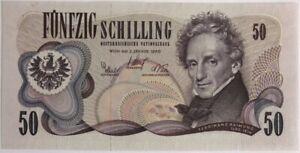 AUTRICHE-50-SCHILLING-1970-Billet-de-banque-SUP