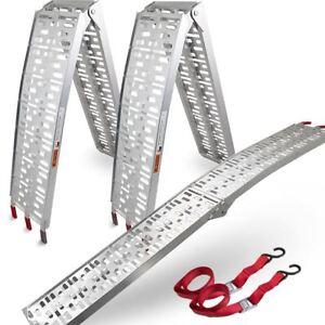 BITUXX-2x-Auffahrrampe-2-28m-Verladerampe-Verladeschiene-340kg-klappbar-Auto