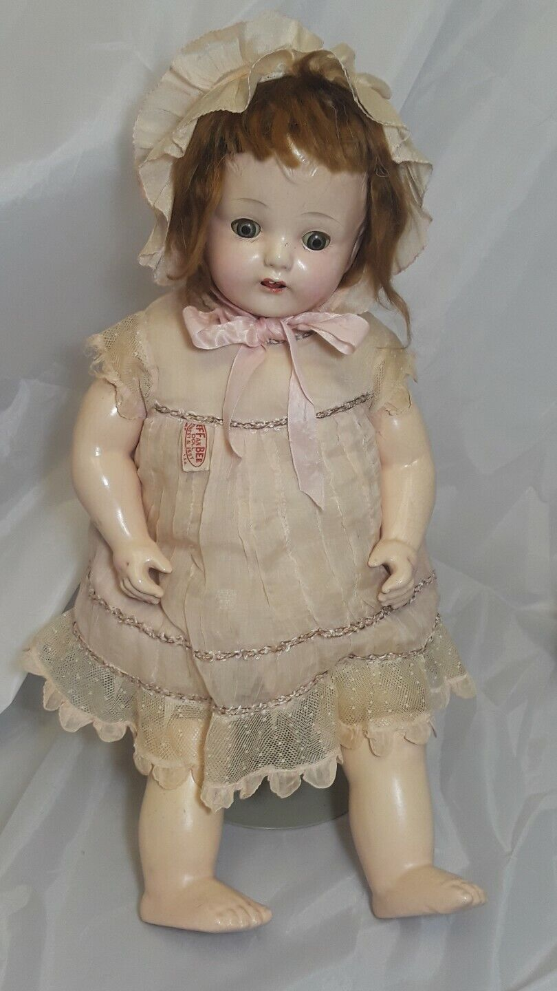 Effanbee Vintage Composition Doll Circa 1930's 20  Tall All Original