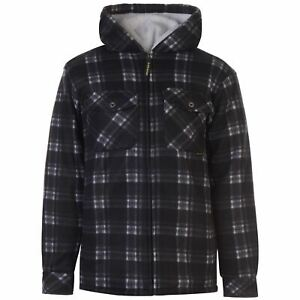 Dunlop-Mens-Full-Zip-Checked-Hoody-Hooded-Jacket-Hoodie-Top-Coat-Long-Sleeve