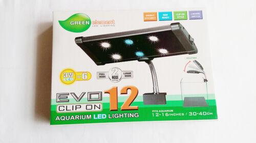 Aquarium LED 18W Aquarium Lighting Clamp Nano Marine Fish Coral Cichlid 6x3W NIB