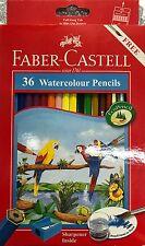 FABER Castell Matite Colorate Colore Acqua Set di 36-Free Brush & temperamatite