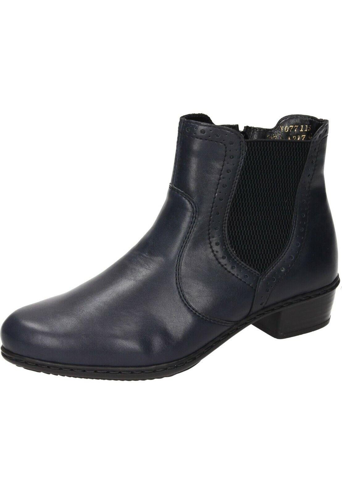 Rieker Y0771-15 Stiefeletten Stiefel Ankle Stiefel Schuhe blau Gr.36-42 Neu4  | Wunderbar