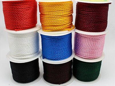 5.5 Yards 3mm Nylon String Chinese Satin Silk Braided Cord Love Binding Rope