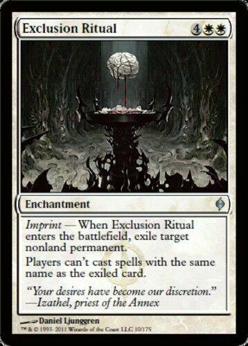 mtg 4 Exclusion Ritual LP x4 4x New Phyrexia