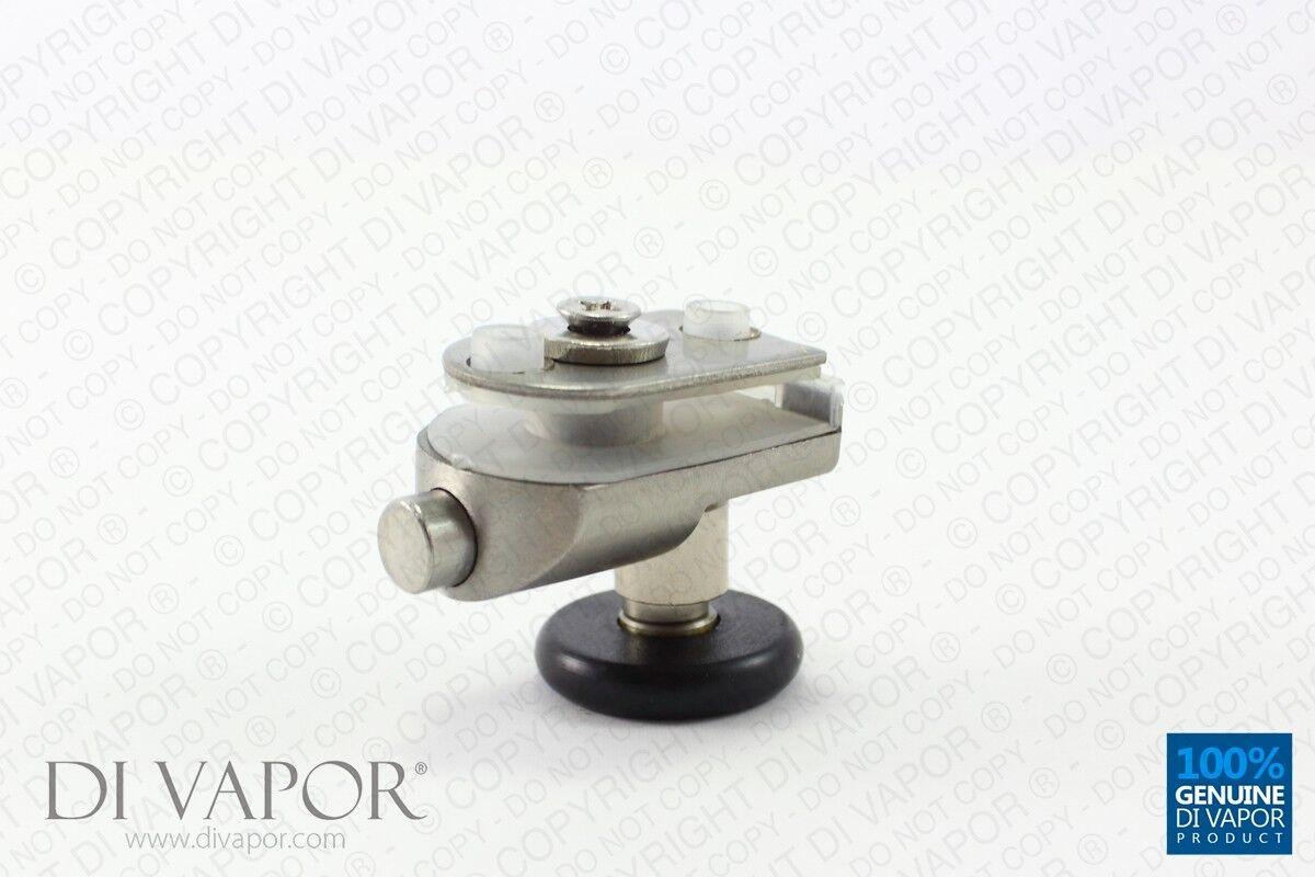 Di vapore (R) 25mm 26mm A MOLLA IN ACCIAIO ACCIAIO ACCIAIO INOX SINGOLO NERO PORTA doccia girevole be99b5