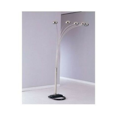 5 Arms Arch Floor Lamp Include 5 Light Bulbs /& Shades Available in Multi Colors