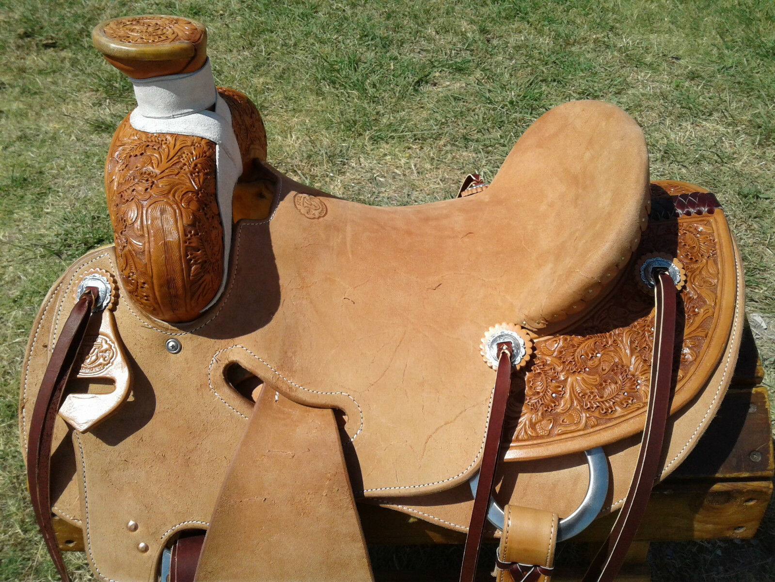 16   Spur Saddlery Ranch Roping Saddle - Seat Rigging -Made in Texas  high quality & fast shipping