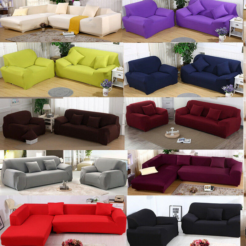 US 1 2 3 4 Sofa Cover Slipcover Couch Stretch For L Shape Se