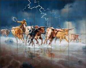 Longhorn-Tile-Backsplash-Sorenson-Art-Ceramic-Mural-RW-JS052