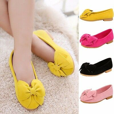 Fashion Children Girls Baby Princess Shoes Kids Dresses Flats Bowknot Sandals